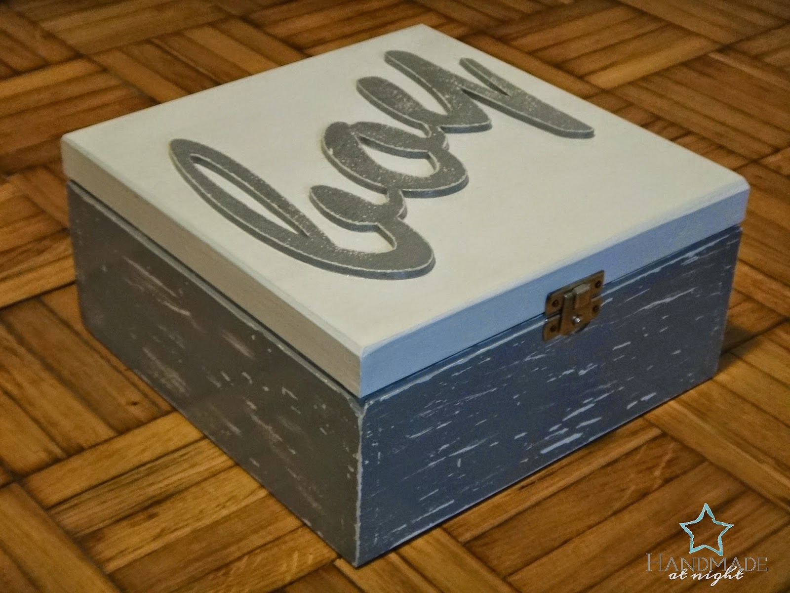 box for boy, for boy, pudełko dla chłopca, pudełko, przecierane, boy