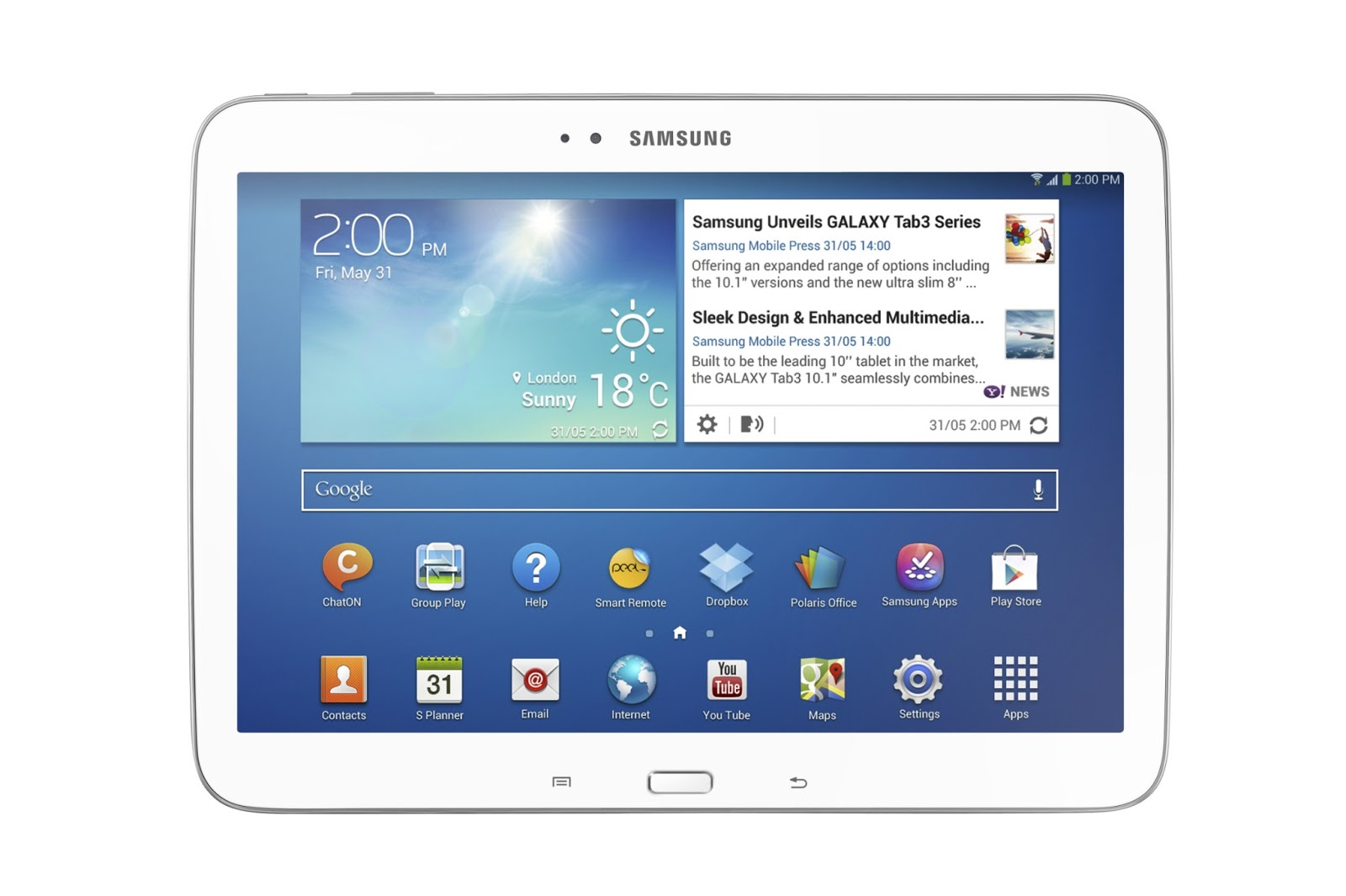 The Galaxy Tab 3  with 10.1-inch