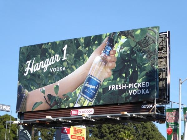 Hangar 1 Fresh-picked Vodka billboard