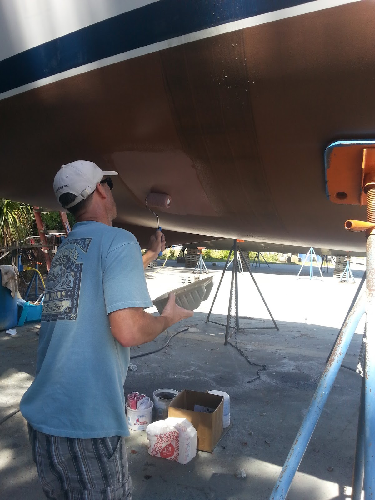 Sailing Luna Sea : Project in Pictures: Copper Coat Bottom Paint