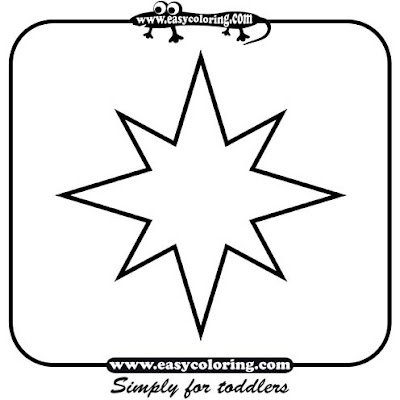 star cut outs coloring pages - photo#41