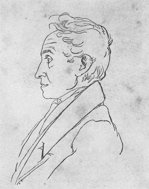 François Desire Roulin, Simón Bolívar. Lápiz sobre papel, 0,222 x