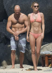 The sexiest celebrity couple in the world, Jason Statham and Rosie Huntington Whiteley 2