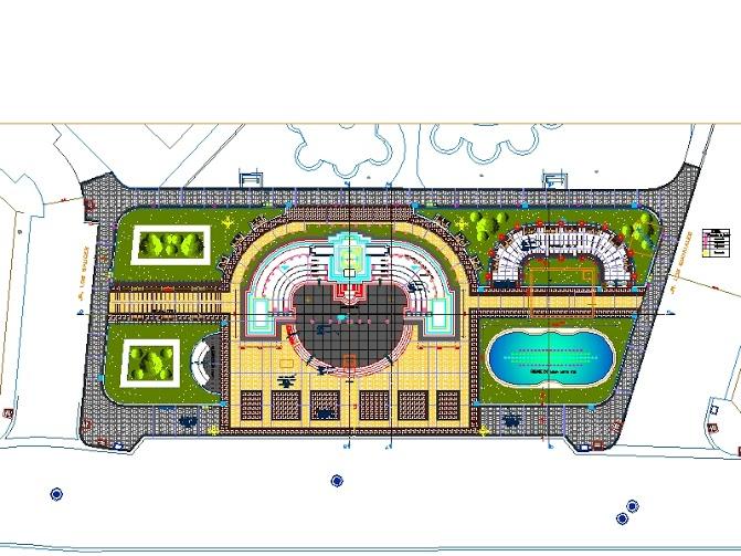 Plan autocad d 39 un parc public dwg outils livres for Outil architecte gratuit