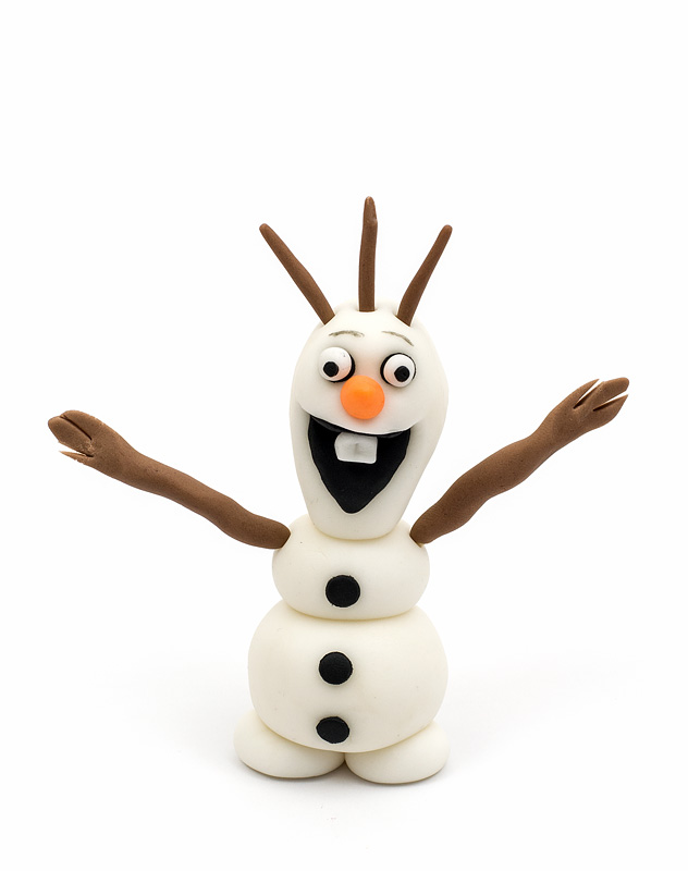 Frozen Olaf fondant figurine topper front