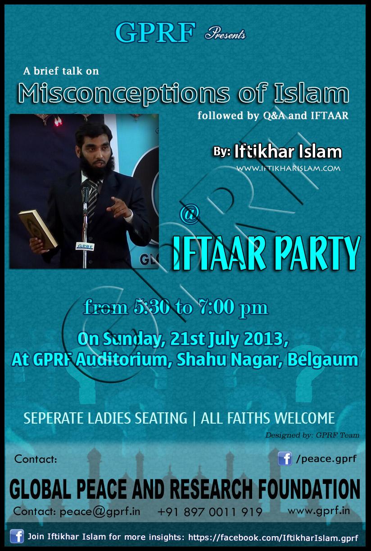 Iftaar Party Iftikhar Islam GPRF