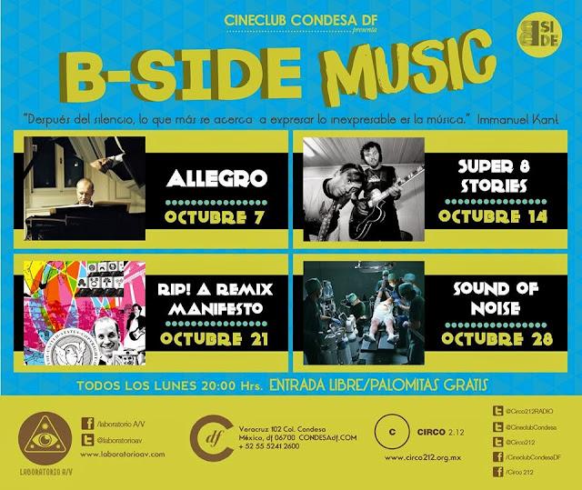 """Llega el ciclo de cine """"B-Side Music"""" al Cineclub Condesa"""