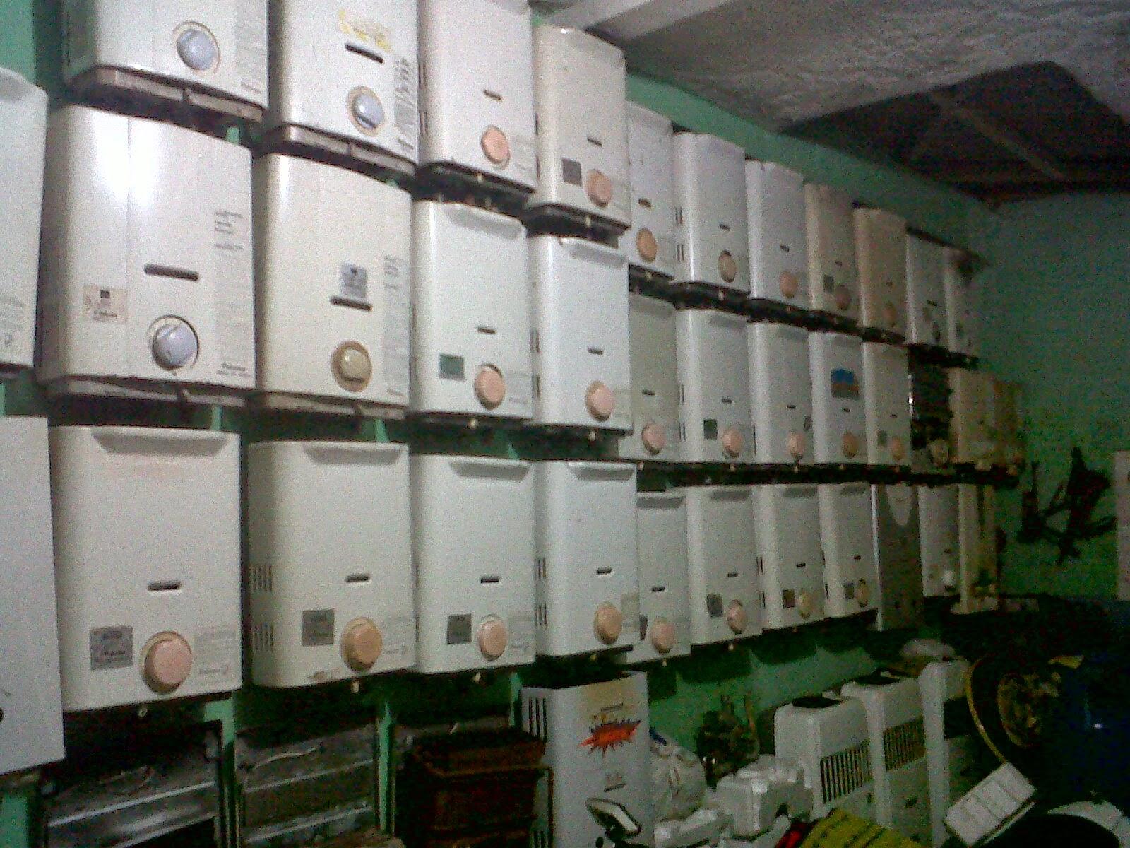 jual water heater baru bekas merk paloma ori made in jepang