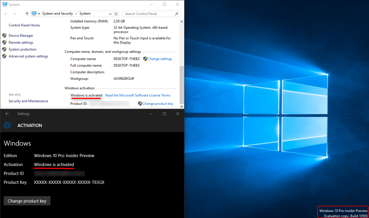 Video Converter Software: Activate Windows 10 build 10565