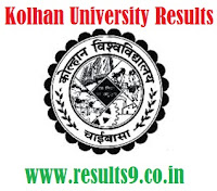 Kolhan University MBBS 3rd prof Exam Results 2013