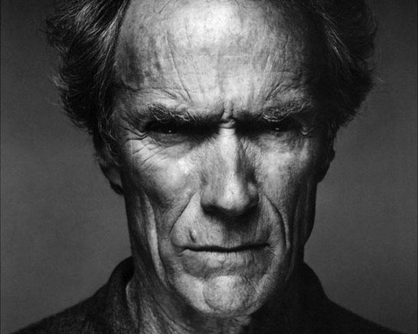 Fotografias a preto e branco de celebridades - Clint Eastwood