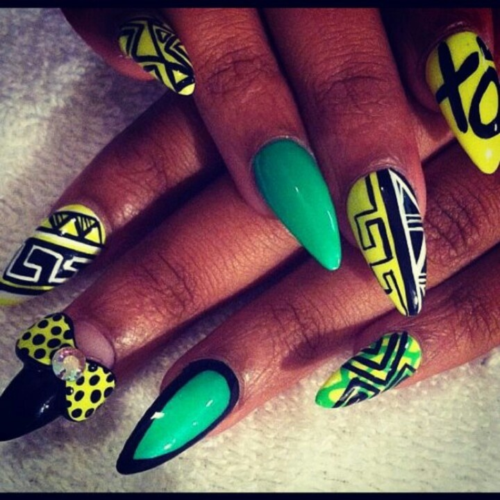 African Nail Art: Nails'piration: 20 Afrocentric Looks - Afroziky