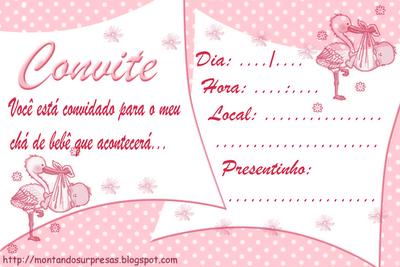 Convite Modelo Primeira Festinha Menina