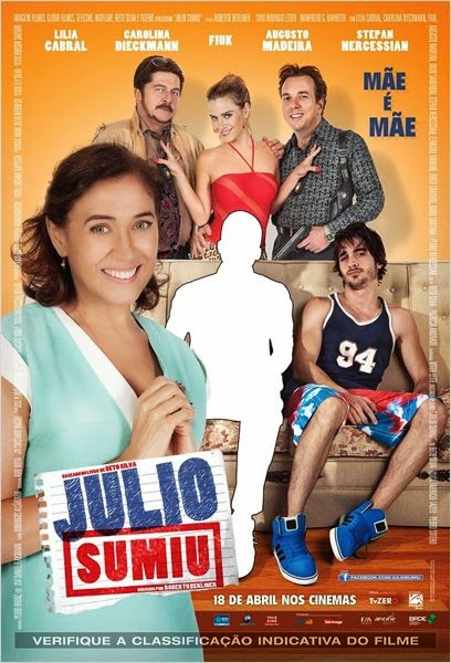"Poster do filme ""Julio Sumiu"""