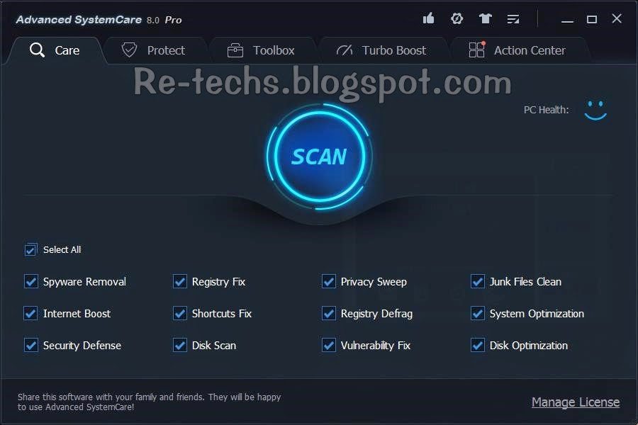 Download Advanced System Care 8 Pro & Serial Number
