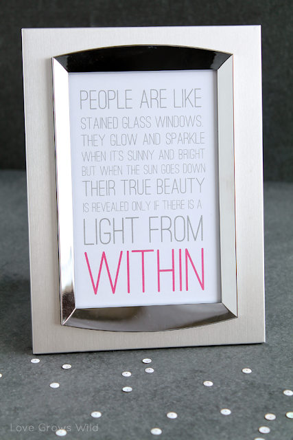 Printable Light From Within Quote by Love Grows Wild for Uncommon Designs #printable #quote