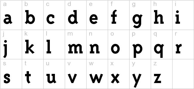 Triplex Serif Bold font