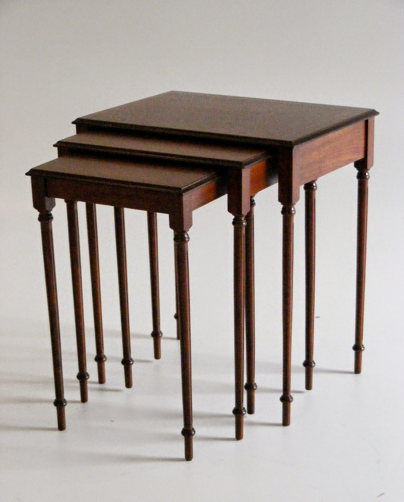 VintageGreaves and Thomas (England) solid wood nest of tables