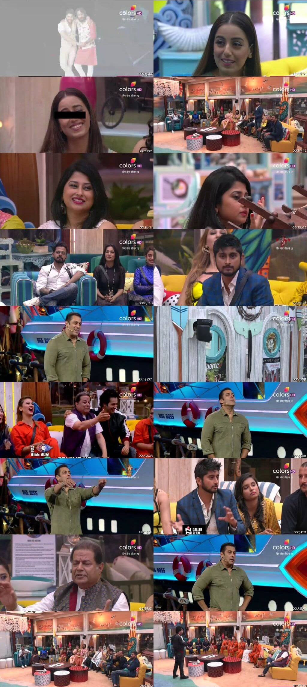 Screenshots Of Hindi Show Bigg Boss 12 22nd September 2018 Episode 06 300MB 480P HD