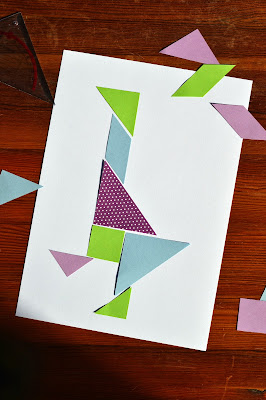 Tangram Motiv Gans - little box of tricks
