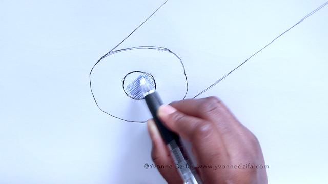 Diagram sketch of hair medulla structure