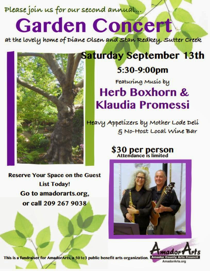 Garden Concert - Sat Sept 13