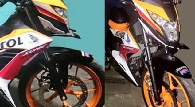Foto Gambar Honda New Sonic 150R Motif Repsol