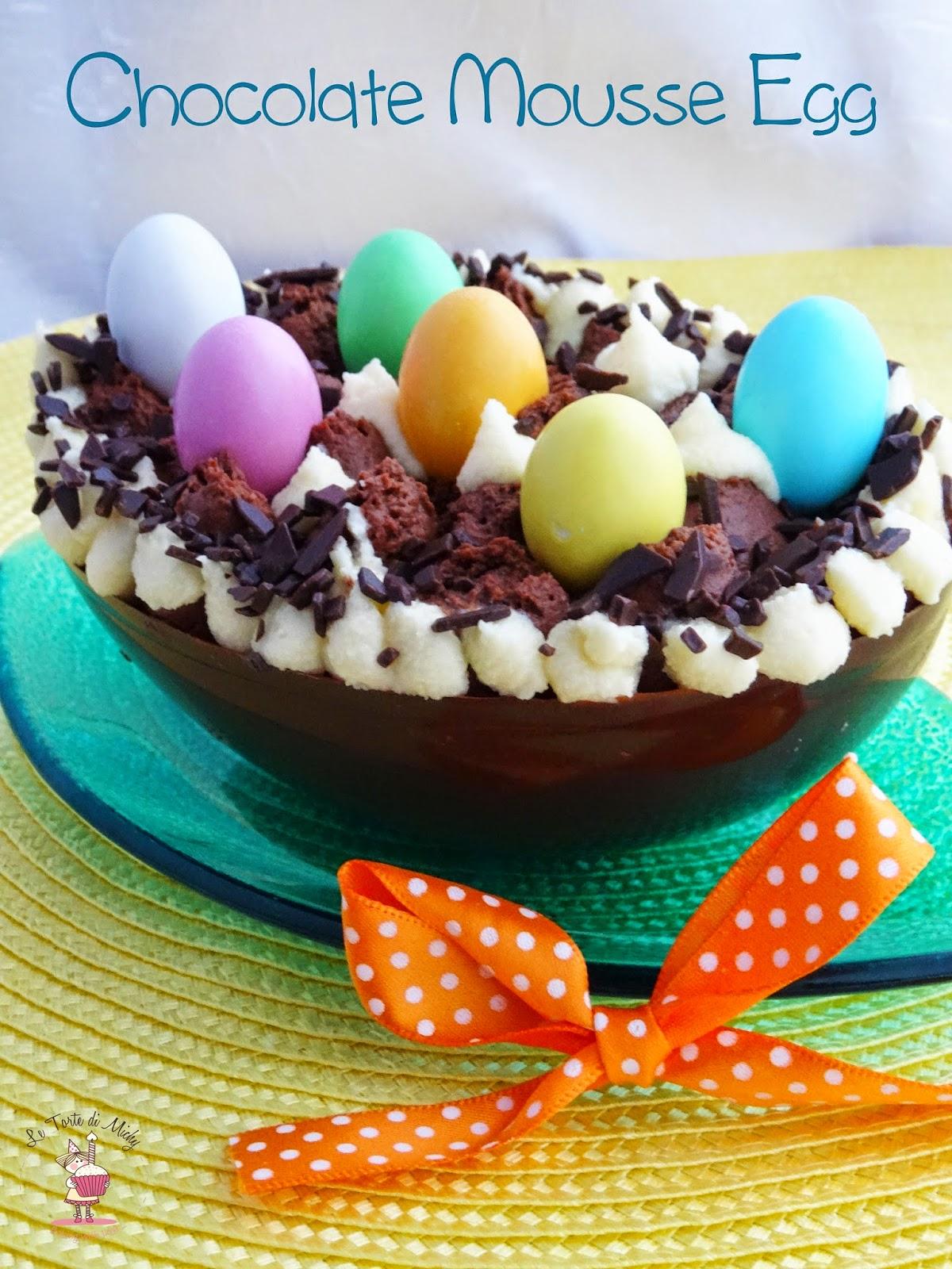 uova di pasqua ripiene di mousse al cioccolato (chocolate mousse egg)