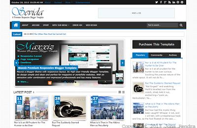 Screen Shot Template Sevida Premium Responsive jonarendra