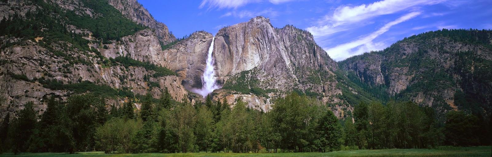 Waterfall high hill free hd desktop wallpaper