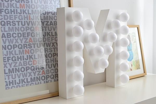 lettre lumineuse DIY
