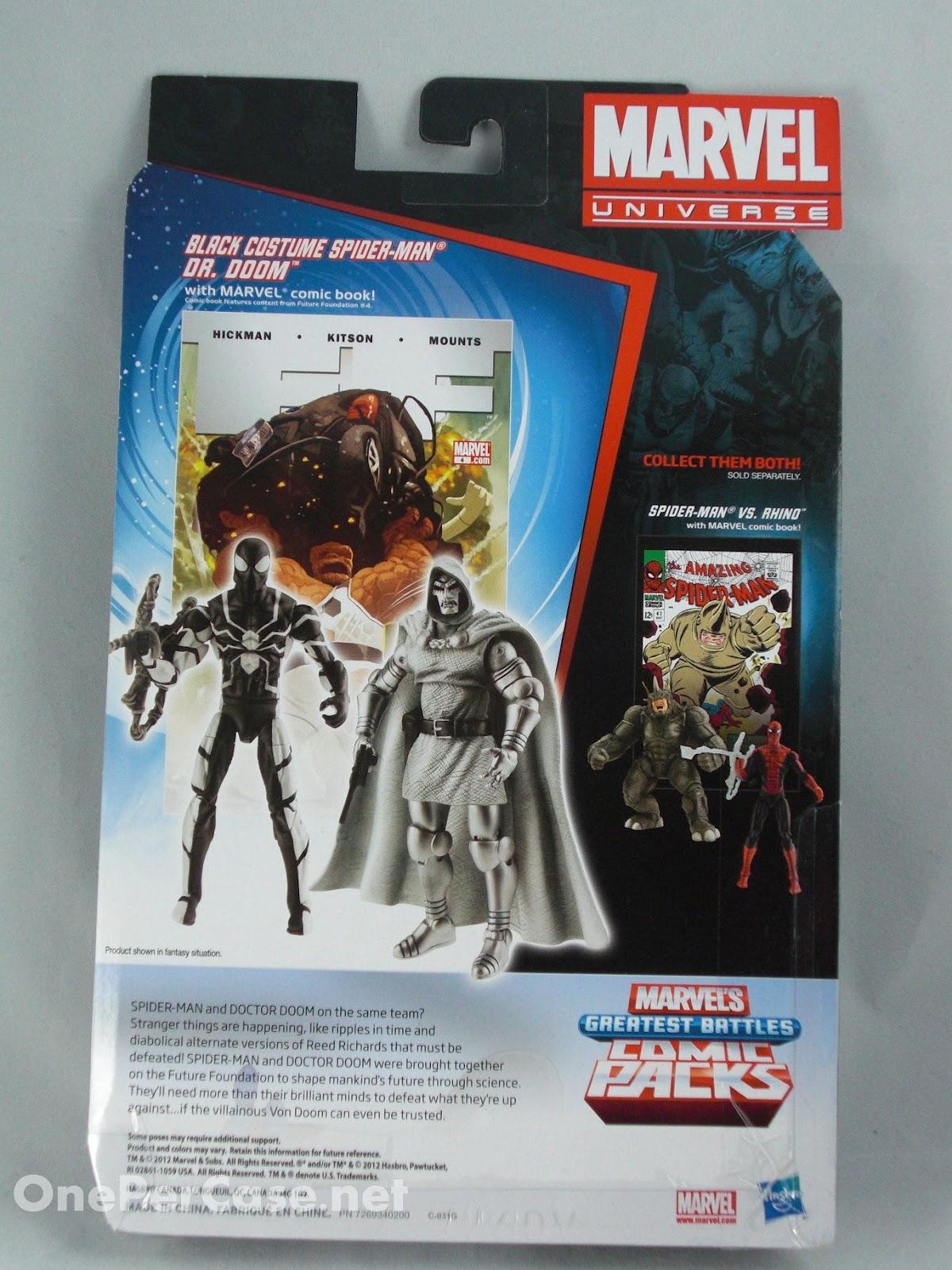 Marvel Universe Greatest Battles Comic Packs Noir Costume Spider Man Dr Doom