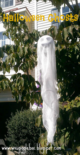 simple and easy ghost for outside Halloween decorations,