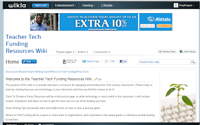 screenshot of our wiki page