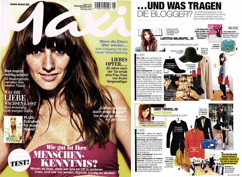 Maxi (Germany) - August 2011 - Shopping Picks
