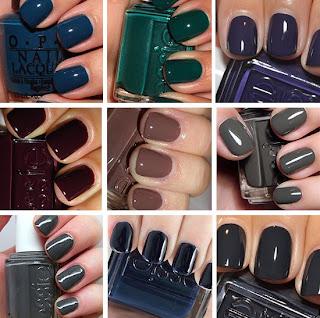jesienne kolory lakierów do paznokci