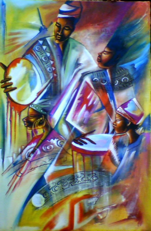Haitianarts painting Easter live music