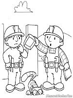 Halaman Mewarnai Gambar Bob The Builder