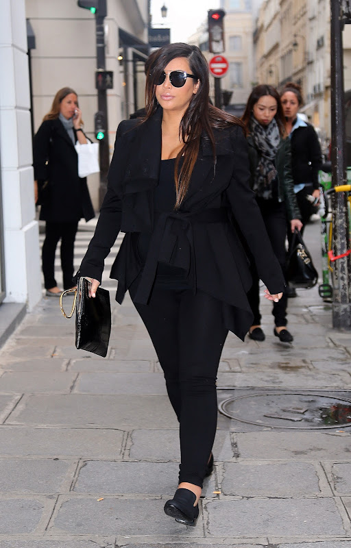 Kim Kardashian out in Paris