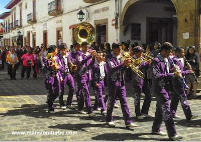 Música de Banda en Pátzcuaro durante los festejos del 479 Aniversario