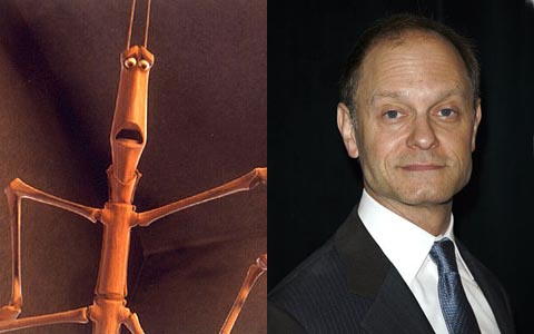 David Hyde Pierce as Slim in A Bug's Life disneyjuniorblog.blogspot.com