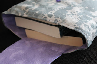Lilac Camouflage gift bag Army Camo ACU military twill birthday party favor by Handiworkin' Girls