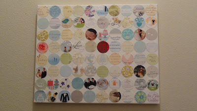 Recycling Your Wedding Cards into a Wedding Card Wall Collage