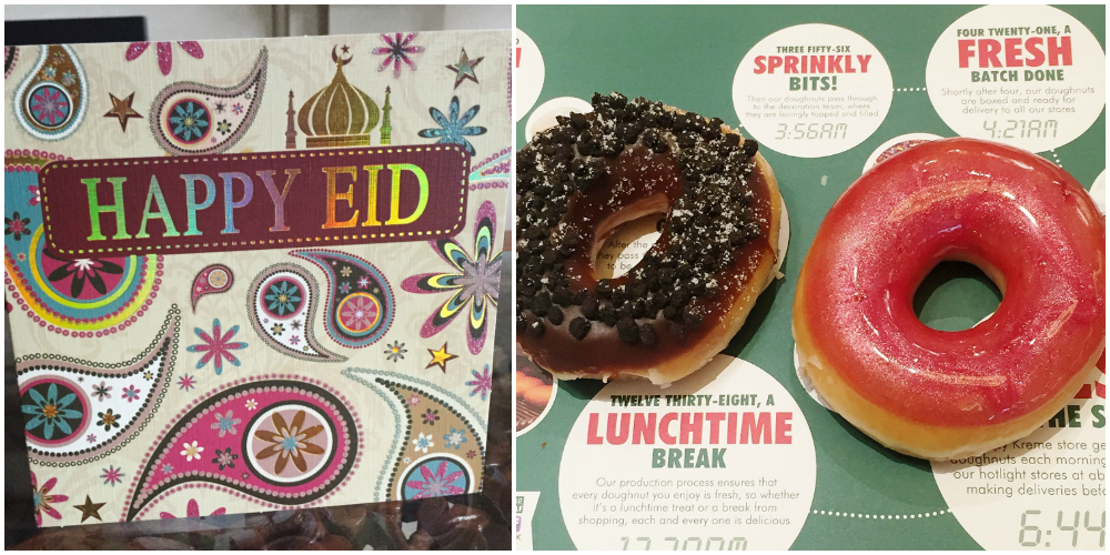 eid card and krispy kreme nomnom
