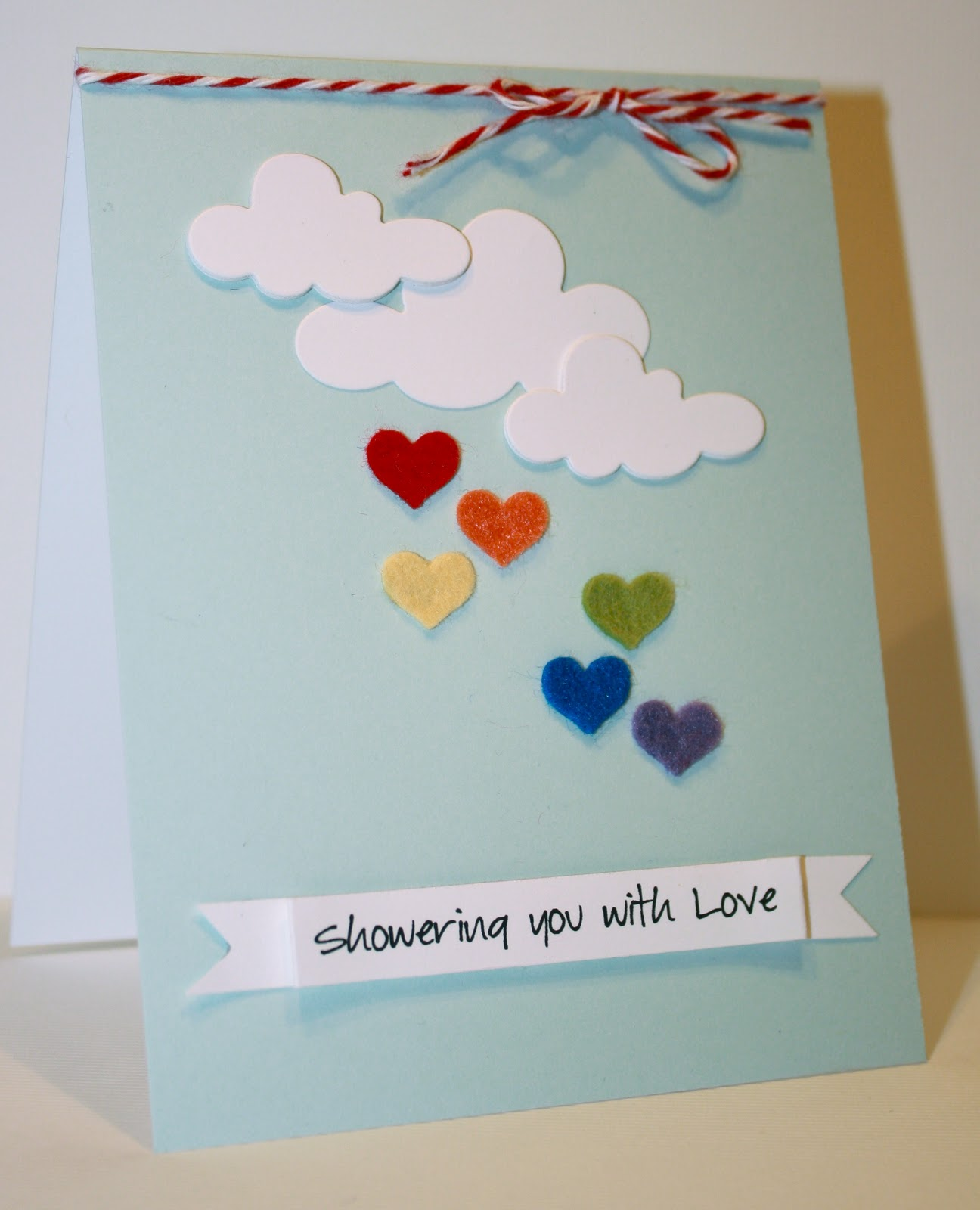 Awesome Card Making Ideas Pinterest Part - 6: ... Lately Iu0027ve Been Pinning A Lot Of Things On Pinterest Involving Hearts,  Rainbows, And Clouds, So Thatu0027s Where I Drew My Inspiration From For This  Card.