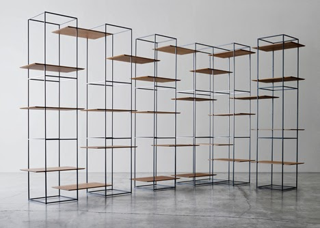 Shelves That Seem To Float In Metal Frames By Ron Gilad
