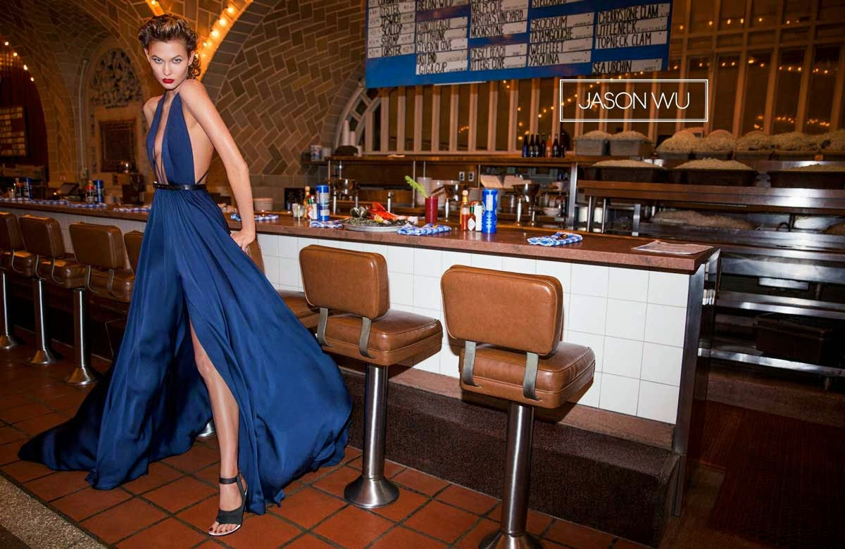 Karlie Kloss goes glamorous for the Jason Wu Spring/Summer 2015 Campaign