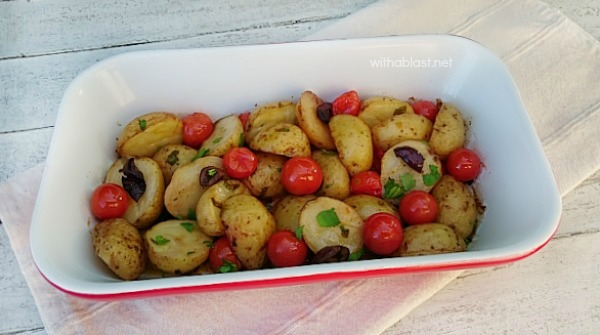 Mediterranean Baby Potatoes ~ Bring the taste of the Mediterranean to your home with this scrumptious Baby Potato dish !