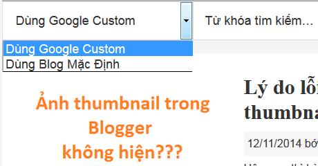 Khung search chuyển đổi giữa Blogger và Google Custom