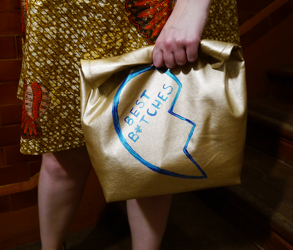 Rowanjoy Jessie dress, Godiva Boutique, Herald Fashion Awards, award winning blogger, Scottish fashion design, novelty bag, lunchbag clutch